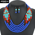 ethnic bead necklace jewelry new fashion classic statement necklace acrylic beads necklace women 1240