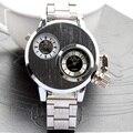 Nova chegada 2015 homens marca de quartzo relógio de aço inoxidável relógio de pulso moda casual relógios v6 horas presente acessível