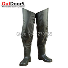 Brand Quality waterproof trousers Brand felt bottom fishing wading pants bionic camouflage pants Siamese pants Waders Fishing