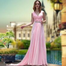 free shipping 2013 new hot seller sweet train bride gown banquet marry long design formal dress pink crystal Bridesmaid Dresses