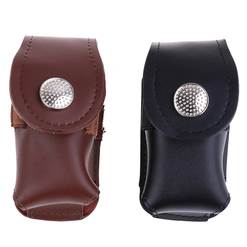 1PC Black/Coffee Mini Golf Ball Holder Bag Waist Pouch Bag Leather Cool Anti-dust Golf Tee Bag Sports Accessory Portable