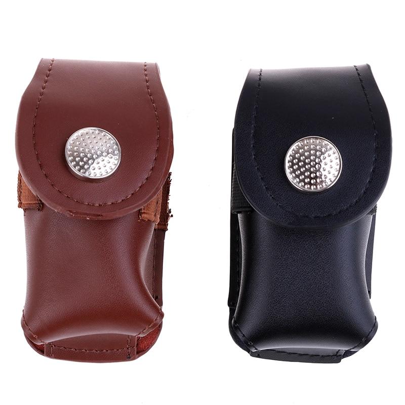 1PC Black/Coffee Mini Golf Ball Holder Bag Waist Pouch Bag Leather Cool Anti-dust Golf Tee Bag Sports Accessory Portable