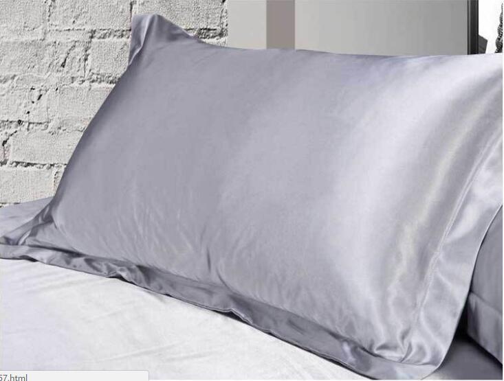 chaude fourrure de soie taie d oreiller imposture literie oreiller solide couleur a usage unique maison lit hotel cas 48 74 cm gros fg543 dans taie