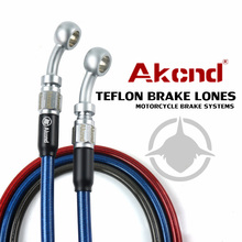 AKCND Motorcycle Universal Braided Steel Hydraulic Reinforce Brake line Clutch Oil Hose Tube For yamaha nmax xmax aerox pcx 155