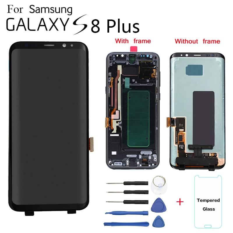 Original para samsung galaxy S8 + display lcd SUBSTITUIÇÃO Da Tela Para samsung SM-G955FD G955F G9550 G955N MÓDULO DE display lcd tela