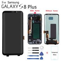Oryginalny do SAMSUNG Galaxy S8 + G9550 G955F wyświetlacz LCD wymiana ekranu dla samsung SM G955FD G955N wyświetlacz LCD moduł ekranu|Ekrany LCD do tel. komórkowych|Telefony komórkowe i telekomunikacja -