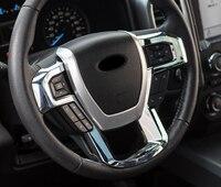 Para Ford Expedition 2018 Volante Do Carro Botão Interruptor U Tiras Capa Guarnição Adesivo ABS Car Styling Acessórios Auto