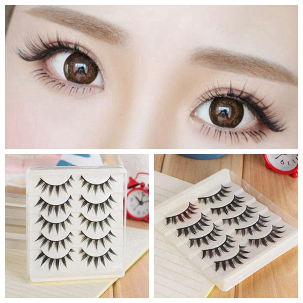 5 Pairs Women Japanese Serious Makeup False Eyelashes Long Thick
