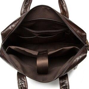 Image 5 - Westal 남자 서류 가방 남자 가방 정품 가죽 사무실 가방 남자 노트북 가방 가죽 서류 가방 남자 변호사/컴퓨터 가방 9005