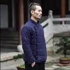 M 3xl Winter Chinese Stijl Katoen Gewatteerde Jassen Mannen Mode Toevallige Gesp Jas Jonge Retro Dikker Katoenen Jas Linnen Kleding - 4
