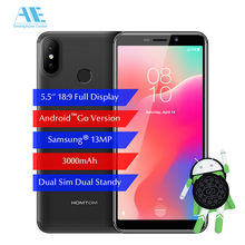 HOMTOM C1 5.5'' 18:9 1GB 16GB Mobile Phone Android GO 3000mAh SW 13MP Camera Fingerprint ID Dual Sim GPS3G WCDMA Smartphone(China)