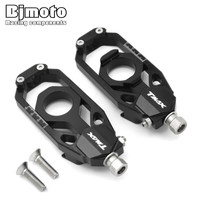 BJMOTO CNC Rear Axle Spindle Chain Adjuster Blocks For Yamaha T Max TMAX 530 2013 2015