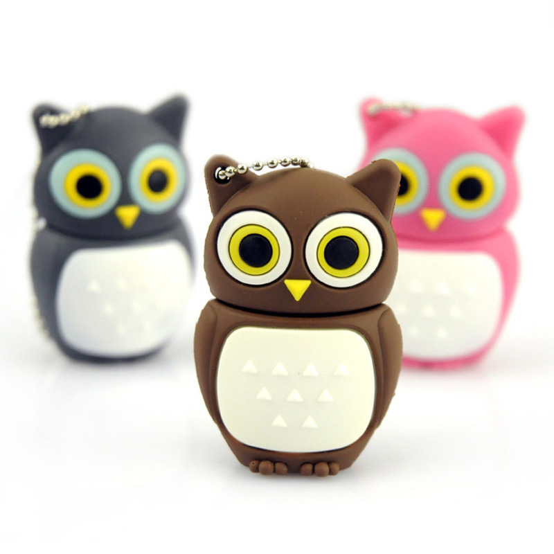 Wholesales genuine cartoon USB, Novel lovely Owl USB Flash Pen Drive 2GB 4GB 8GB 16GB 32GB usb 2.0 memory stick pen thumb/gift