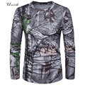 Tops & Tees T-shirts Men New 2017 Spring Stylish 3D Tree Printed Long Sleeve t-shirts fitness hip hop tee shirt homme