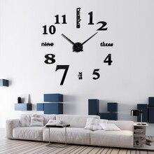 Hot Sales Modern Design Large DIY Wall Clocks 3D Mirror Stickers 2019 New Arrivals Metal Quartz Clock Needles Home Decor