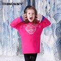 Осень и зима новый девушки моды с длинными рукавами теплый свитер шею свитер Тигр вышивка свитер 2-8 лет