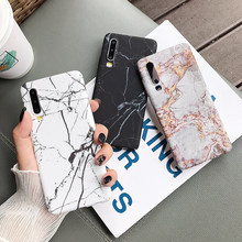 Classical Cracked Marble For Huawei P20 P30 Pro Lite Mate 20 Pro Honor 10 Lite P Smart Full Body Matte Hard PC Back Cover Cases(China)