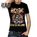 Известный Бренд Iron Maiden AC DC Metallica Одежда The Beatles Nirvana Guns N 'Roses Чаки Рок 3D Печатных мужская Череп Футболка