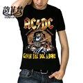 Famosa Marca AC DC Ropa Los Beatles Metallica Iron Maiden Nirvana Guns N Roses Chucky Rock Cráneo 3D Impreso hombres Camiseta