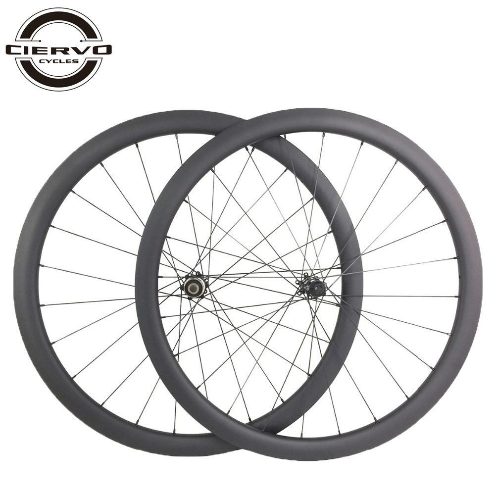U shape road disc carbon wheels 38mm x 25mm tubular straight pull cyclocross wheelset front 9mm QR 12mm 15mm rear 135mm 142mm|Bicycle Wheel| |  - title=