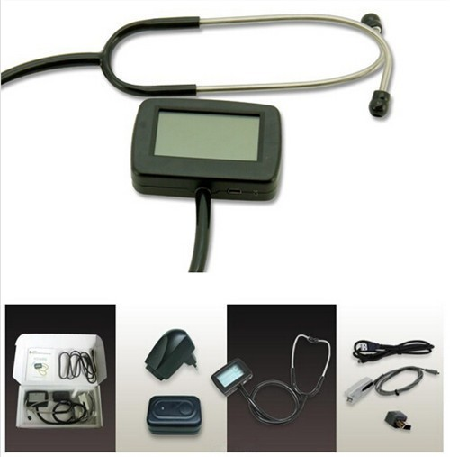 CMS-M Multi-function digital visual Electronic Stethoscope Heart Rate ECG With spo2 pulse oxygen probe CE Approved