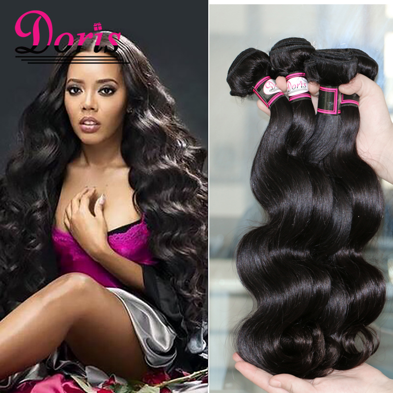 8A Queen Hair Products Human Hair Weave Beauty Peruvian Virgin Hair Body Wave 4 Bundle Deals Peruvian Body Wave 100G