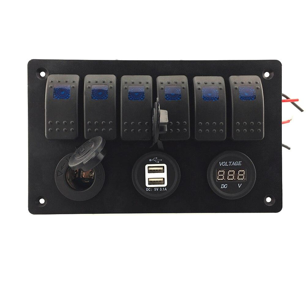 IZTOSS Digital Voltmeter + 12V Steckdose + Doppel USB USB Ladegerät - Autoteile - Foto 3