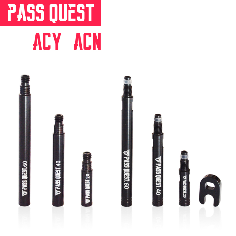 PASS QUEST Road Bicycle Tire Tubeless Tire Valves Extender Bike Tubeless Tire Valve NO Detachable And Detachable 20/40/60MM