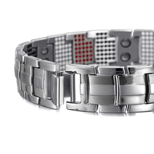Men Jewelry Healing magnetic Bangle Balance Health Bracelet Silver Titanium Bracelets Special Design for Male