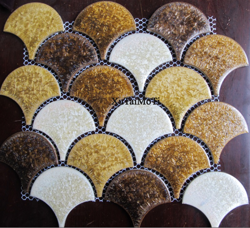 New fish scale porcelain pebble mosaic tile kitchen backsplash bathroom swimming pool wall paper fan tiles shower ceramic tile