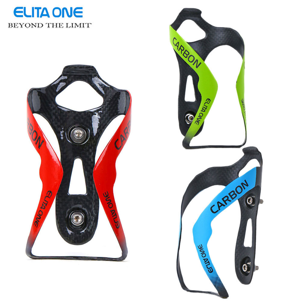 ELITAONE Carbon Bottle Cage Bike Bottle Holder 3K gloss/ matte bottles Cage Bicycle Accessories Cycling Bottle Water Ultra Light цена 2017