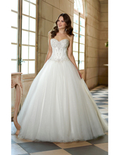 2016 New Ball Gown Shining Princess Wedding Dresses Corset Bodice Ivory White Bridal Dress for Church Plus Size Gowns