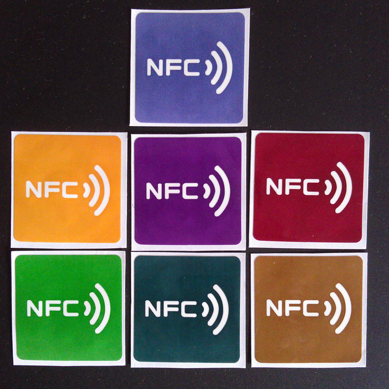 7pcs/Lot NTAG213 30*30mm NFC tags RFID adhesive label sticker compatible with all nfc products
