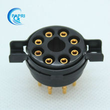 Free Shipping 10PCS  K8A CMC bakelite 8pin tube socket,golden plate copper pin,for KT66 KT88 6SL7 6SN7 6V6 5AR4
