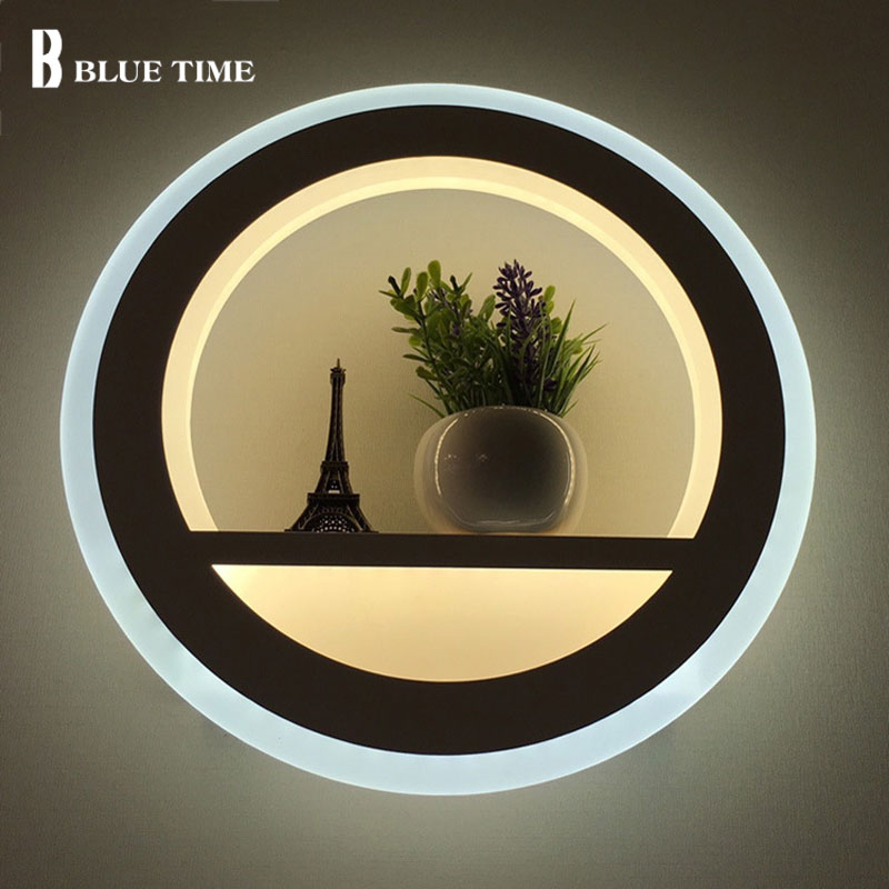 12w Acrylic Decoration Modern LED Wall Lamp For Living room Bedroom Corridor Bedside Fixtures LED Sconce Wall Light Indoor Lamp modern chrome metal led wall lamp lustre crystal living room led wall lights fixtures glass bedroom led wall light wall sconce