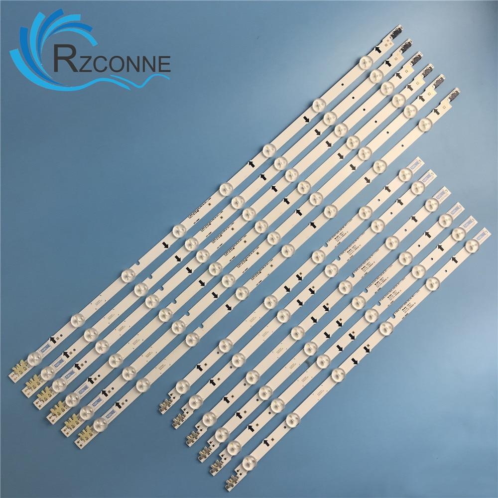 "LED Backlight Lamp strip 14leds For Samsung 50"" TV UA50HU7000 LM41 00088Y BN41 02223A BN96 32178A BN96 32179A 2014SVS_UHD_50-in Book Lights from Lights & Lighting"