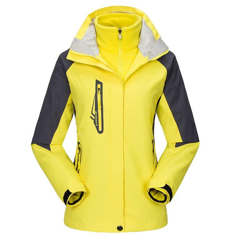En plein air Veste Femmes D'hiver Respirant À Séchage Rapide Coupe-Vent Imperméable Coupe-Vent Ski Camping Randonnée Voyage Vêtements
