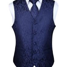 Мужские классические, вечерние, свадебные, с узором пейсли, в клетку, с цветочным узором, жаккардовый жилет, с карманом, с квадратным галстуком, костюм, комплект с карманом, квадратный комплект