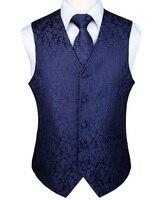 Men's Classic Party Wedding Paisley Plaid Floral Jacquard Waistcoat Vest Pocket Square Tie Suit Set Pocket Square Set