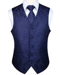 Мужской вечерние классический праздничный свадебный Пейсли в клетку цветочный жаккардовый жилет с карманом квадратный галстук костюм