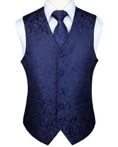 Image 1 - Mens Classic Party Wedding Paisley Plaid Floral Jacquard Waistcoat Vest Pocket Square Tie Suit Set Pocket Square Set