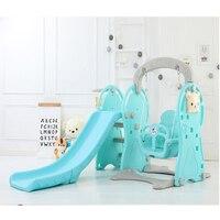 household kids combination slide swing toys plastic playground slide kindergarten playground toys