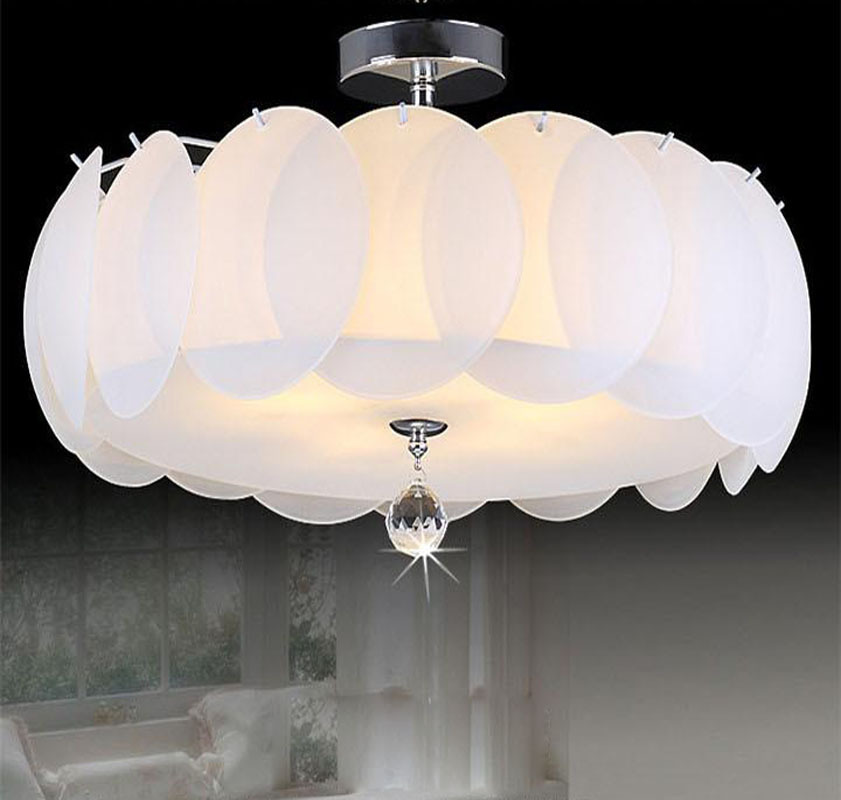 Modern LED Crystal Ceiling Light Round Surface Mounted Crystal Light  Fixtures(China (Mainland)