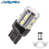 1Pc T20 7443 LED 12 SMD 5730 W21/5W W21W Led 5W Car Bulb Reverse Light Brake Turn Signal Lights parking auto lamp White 12V