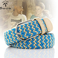 New Style Fashion Elastic Canvas Belt Men'S Casual Elastic Waistband Wild High-Grade Alloy Braid Man Belt Women Belts