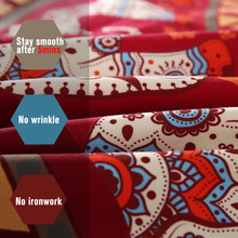 BeddingOutlet Red Mandala Bedding Set Elephant Indian Duvet Cover wiith Pillowcases Soft Moroccan Bedclothes 4Pcs Wholesale