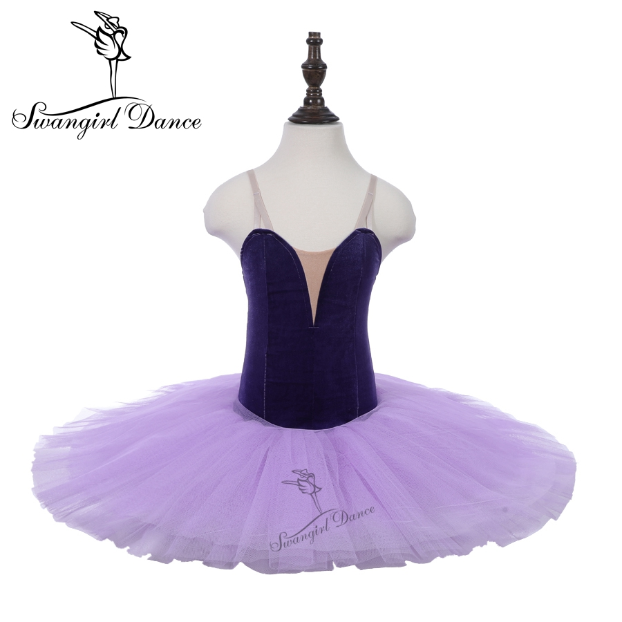d66f918ac8de Rehearsal Ballet Tutu Purple Girls Child Practicing Dance Costumes ...