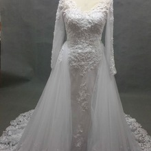 kejiadian Mermaid Wedding Dress long sleeve Floor Length