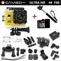 """Ação da câmera F60 4 K 2.7 K 1080 P Allwinner V3 ir pro estilo esporte Wi-fi 2.0 """"170D Capacete Cam ir pro câmera à prova d' água debaixo d' água"""