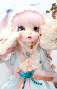 Free makeup&eyes included!TOP quality 1/6 bjd baby doll Luna Rose open dreaming face best gifts cute kids toy manikin